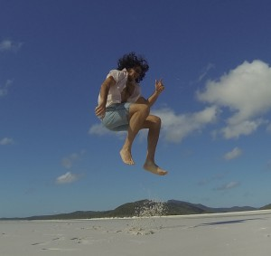 Whitehaven Beach Jump